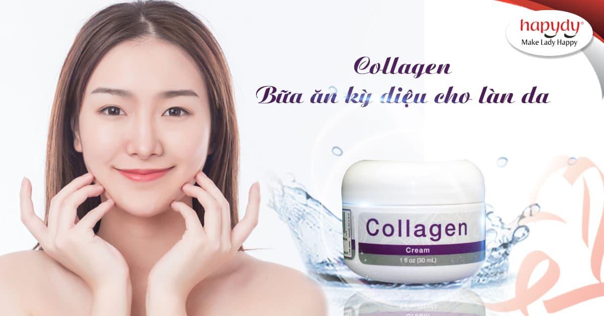 Kem Collagen cung cấp collagen nuôi dưỡng làn da chuyên sâu