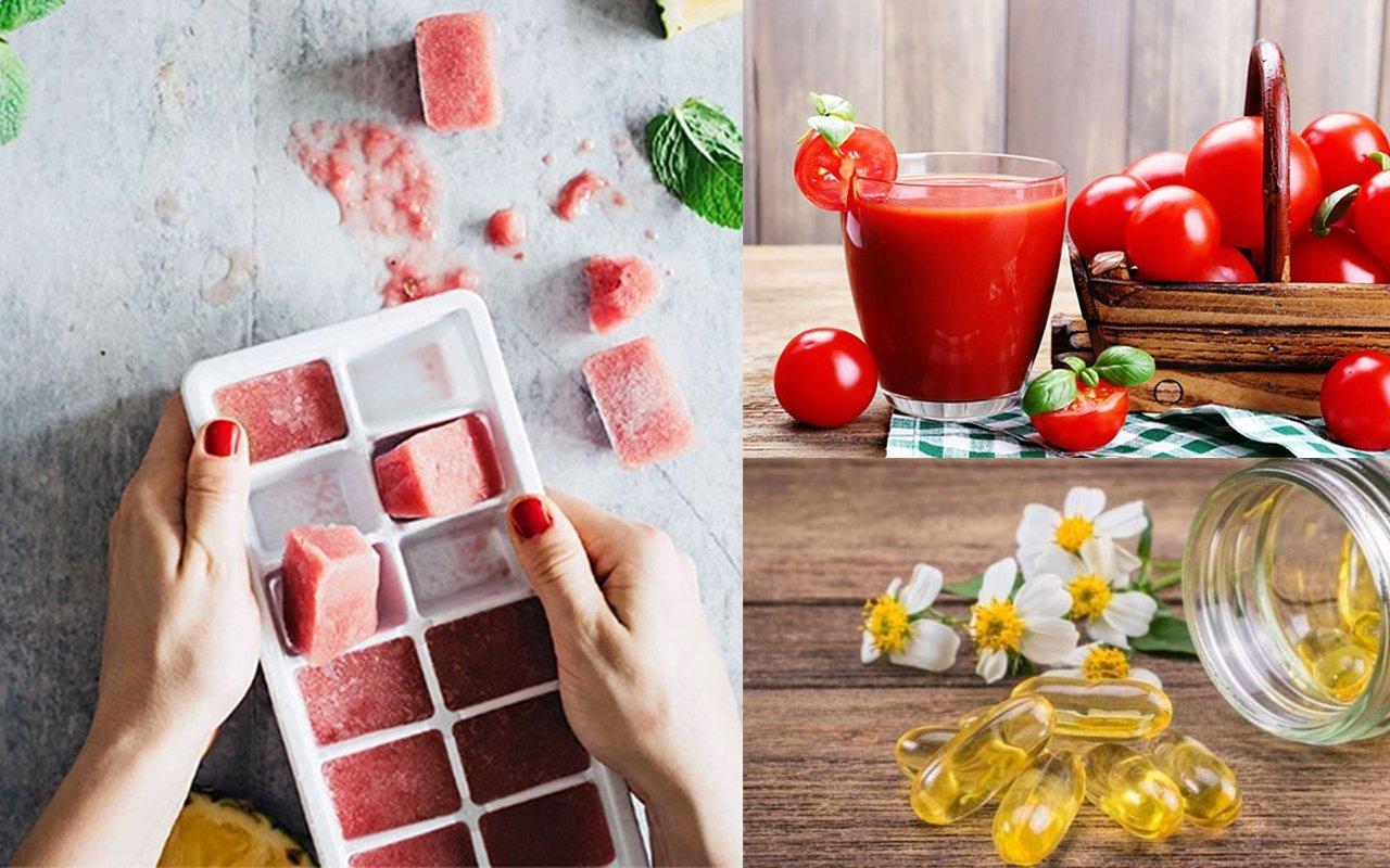 Công thức đá viên cà chua - vitamin E