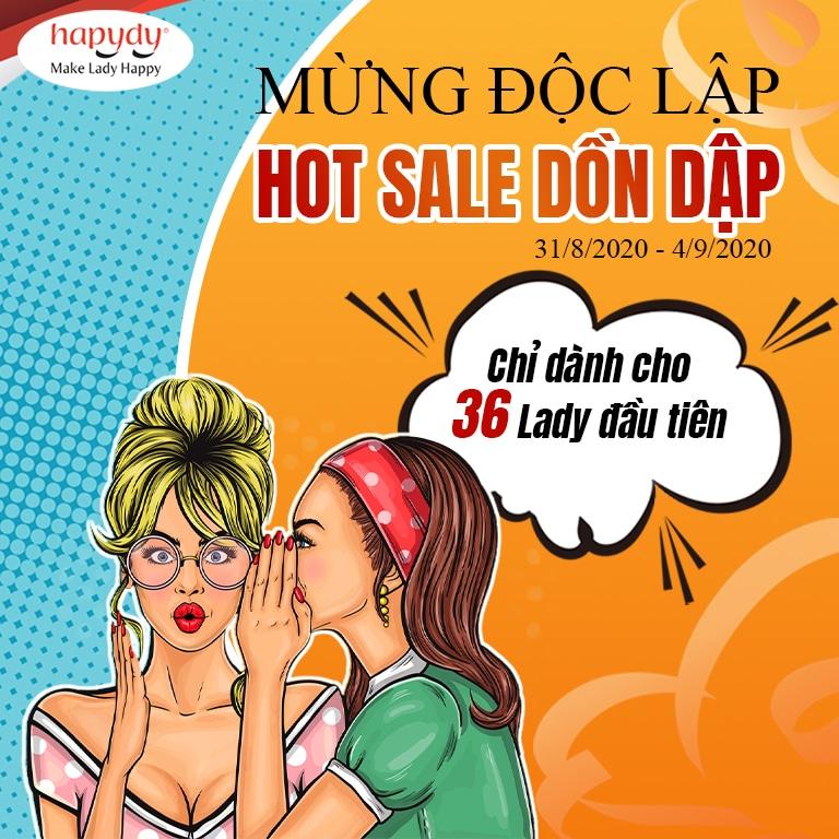 Mừng Độc Lập – Hot Sale Dồn Dập Cùng Hapydy