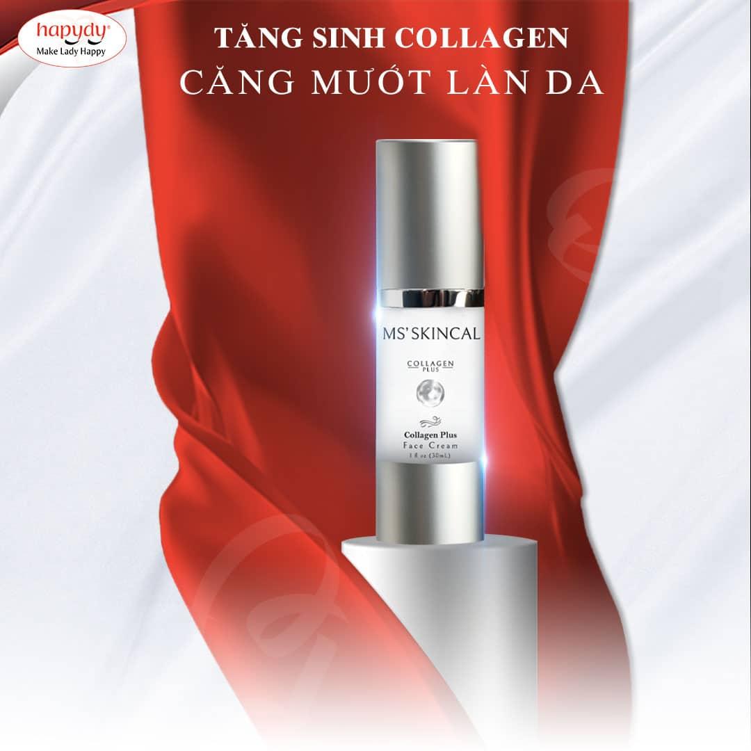 Sử dụng cream tăng sinh collagen, cho làn da căng mướt, đàn hồi