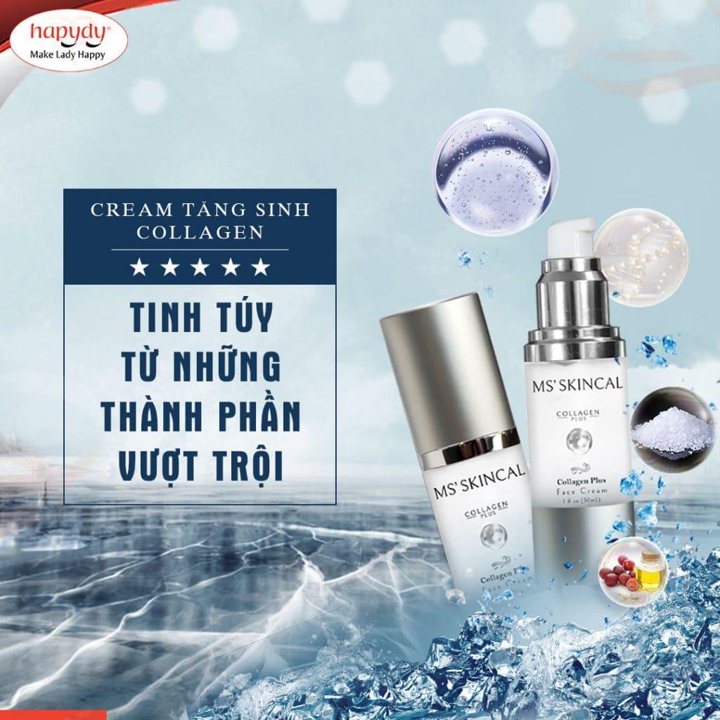 Cream tăng sinh collagen, tái tạo làn da mịn mướt