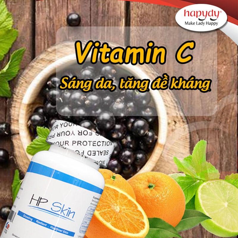 Vitamin C trong HP SKIN chiết xuất từ quả lý chua đen